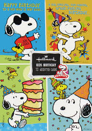 snoopy cards peanuts kids birthday cards boxed set snoopn4pnuts