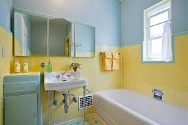 yellow tile bathroom ideas vintage yellow tile bathroom with bathroom tile ideas