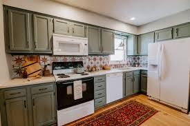best paint for kitchen cabinets ppg townhome kitchen remodel makeover photos apartment therapy