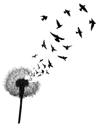 Bird Flying Tatoo Birds Flying From Dandelion Design Idea