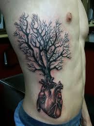 and tree rib tattoos tree tattoos on