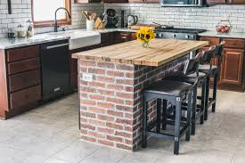 images of kitchen island diy brick kitchen island the of our kitchen