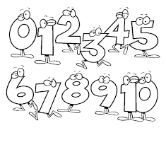 free coloring pages numbers