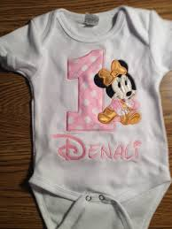 1st birthday onesie pink gold baby minnie mouse 1st birthday onesie