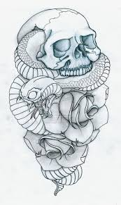 guns and roses tattos skull snake and roses tattoo by pulverisedfetus deviantart com on