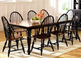 unfinished dining room chairs thinking of black windsor chairs to go with my espresso farm table