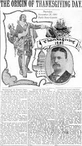 the origin of thanksgiving holiday tom glover u0027s hamilton library scrapbook local history with a