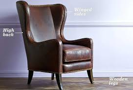 Wing Back Chair Design Ideas Wingback Chair And Ottoman Chair Ottoman Brown Leather Brown
