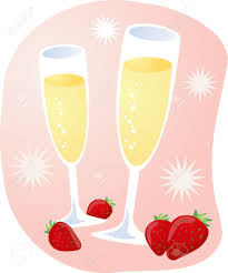 champagne clipart celebration with champagne and strawberries royalty free cliparts