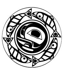 art northwest coastal people true moon mandala native american