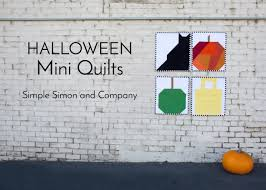 halloween mini quilts