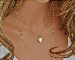 personalized heart locket engravable locket etsy
