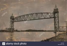 cape cod canal train bridge stock photo royalty free image