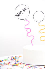 how to your cake topper easy printable balloon cake toppers julep