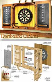 Dvd Cabinet Woodworking Plans by Dartboard Cabinet Plans Woodworking Plans And Projects