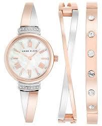 anne klein bracelet set images Anne klein women 39 s two tone bracelet watch bracelets set 26mm ak tif