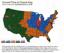 Us Zip Code Map by Ups Time In Transit Map