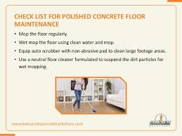 tips to clean and maintain polished concrete floor