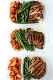 food prep meals chipotle chicken meal prep w roasted sweet potatoes and green beans