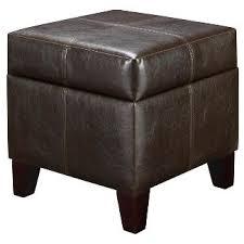 espresso leather storage ottoman target