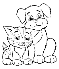 puppy kitten coloring pages 5 puppy kitten coloring