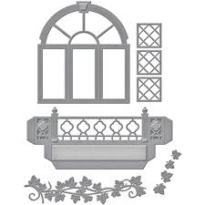 decorative flower spellbinders designer die decorative flower box window by