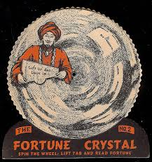 beistle u s a 1948 vintage halloween decoration fortune crystal