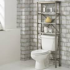 Contemporary Bathroom Decorating Ideas Bathroom Steel Framed Free Standing Bathroom Shelving Ideas For