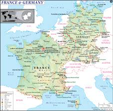 germany europe map of and germany