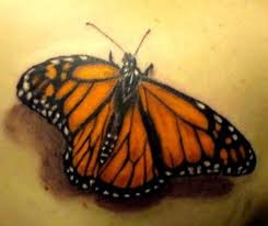 monarch 3d butterfly tattoos monarch