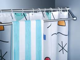 how to place a shower curtain rods the homy design image of double shower curtain rods