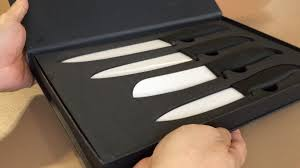 gourmet ceramic chef knife set by clever chef 4 piece youtube