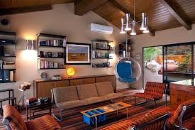 interior design home styles installation in retro style furniture and the colors of the 60s