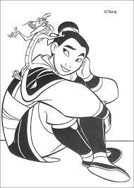 fa mulan mushu guardian fa family coloring pages