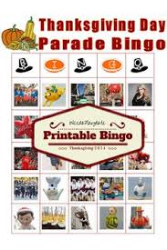 thanksgiving parade bingo printable cards and there is one for