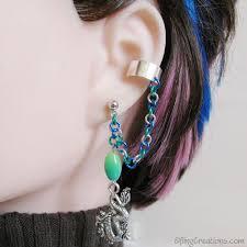cartilage cuff earrings water cartilage to lobe chain ear cuff bajoran earring in