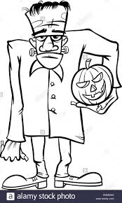 halloween images black and white black and white cartoon illustration of spooky halloween zombie or
