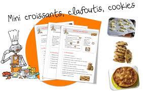 recette de cuisine sur 3 recettes de cuisine pour la classe bout de gomme