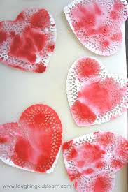 heart doily s day doily hearts laughing kids learn