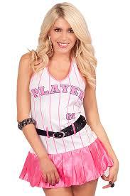Halloween Costume Halter Neck Baseball Player 69 Striped Dress Halloween