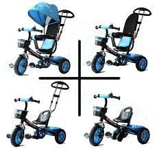 lexus trike uk childs 4 in 1 trike blue u0026 black push along pedal kids
