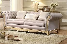 stunning faux silk upholstered traditional tufted sofa livingroom