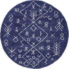 oriental round blue area rugs rugs the home depot