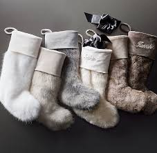Cowhide Christmas Stockings Luxe Faux Fur Stocking