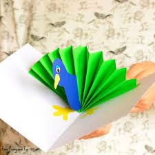 Easy Origami Peacock - peacock crafts archives easy peasy and