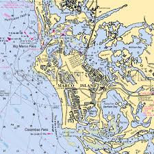 Marcos Island Florida Map Marco Island Nautical Chart Decor