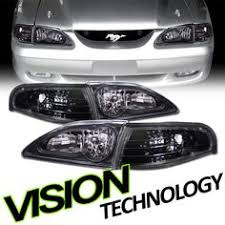 ebay mustang headlights amazon com 94 98 ford mustang gt v8 white glow el gauges home