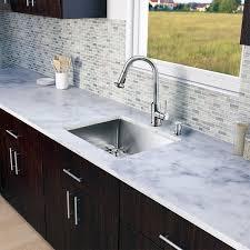 kitchen sink with faucet set vigo all in one 23 inch stainless steel undermount kitchen sink