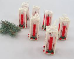 vintage plastic canvas ornaments etsy