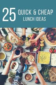 cheap lunch ideas